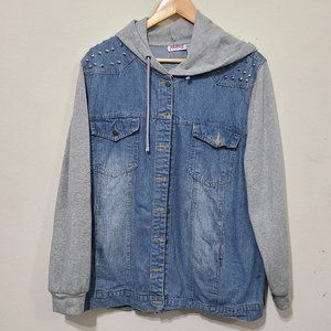 Vintage Madrag Plus Size Denim Jean Jacket Hooded